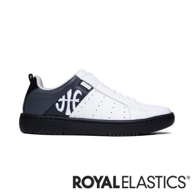 ROYAL ELASTICS ICON2.0 白黑灰真皮潮流運動休閒鞋 (男) 06511-098