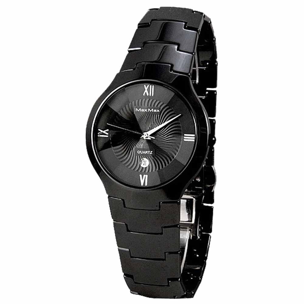 Max Max 多點視角復古陶瓷腕錶-黑-MAS5071-B-40mm