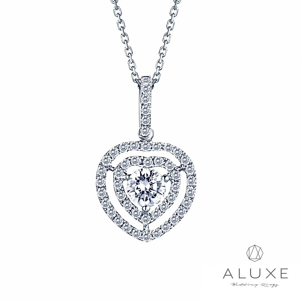 A-LUXE 亞立詩 甜蜜戀情系列浪漫芳心奢華美鑽項鍊