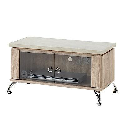 綠活居 比德時尚2.7尺木紋電視櫃/視聽櫃(二色可選)-82x43x44cm-免組