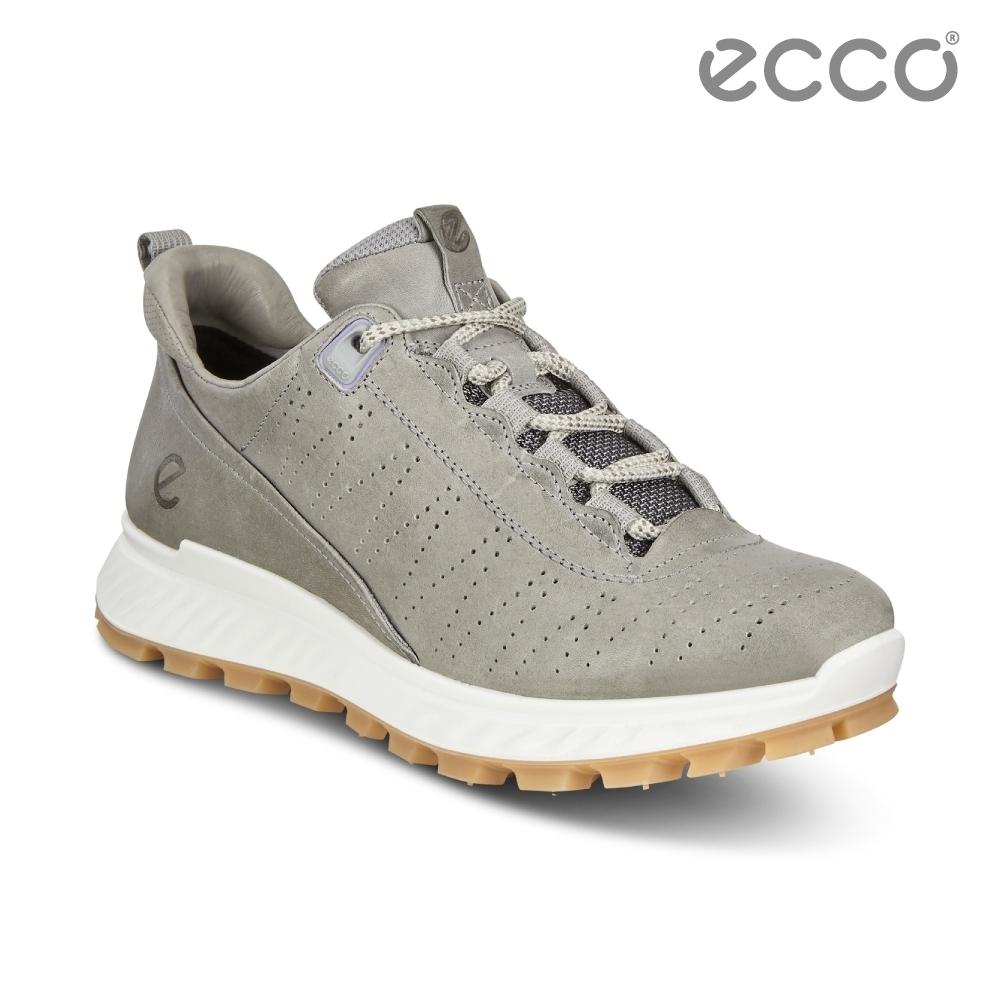 ECCO EXOSTRIKE W 時尚輕量運動戶外休閒鞋 女鞋灰色