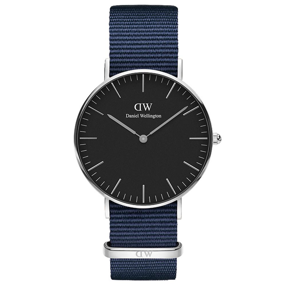 DW 手錶 36mm銀框 Classic 星空藍織紋錶