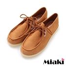 Miaki-休閒鞋韓潮時尚平底包鞋-棕