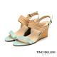 Tino Bellini巴西進口線條姿態楔型涼鞋_水藍 product thumbnail 1