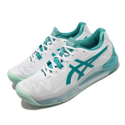 Asics 網球鞋 Gel Resolution 8 女鞋 亞瑟士 緩衝 耐磨 底線球員 亞瑟膠 白 綠 1042A072106
