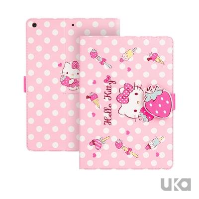 SANRIO 三麗鷗 Apple iPad mini 2019/mini 5 7.9吋 Kitty系列智能休眠可立式磁扣保護套(草莓凱蒂貓)