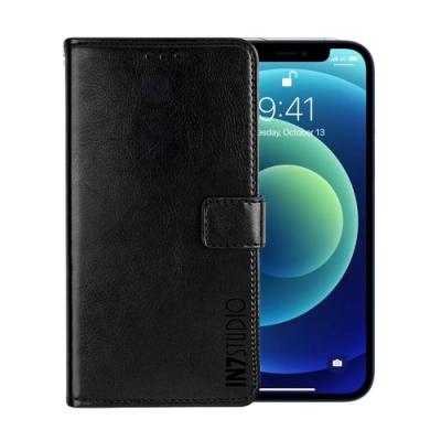 IN7 瘋馬紋 iPhone 12 (6.1吋) 錢包式 磁扣側掀PU皮套 吊飾孔 手機皮套保護殼