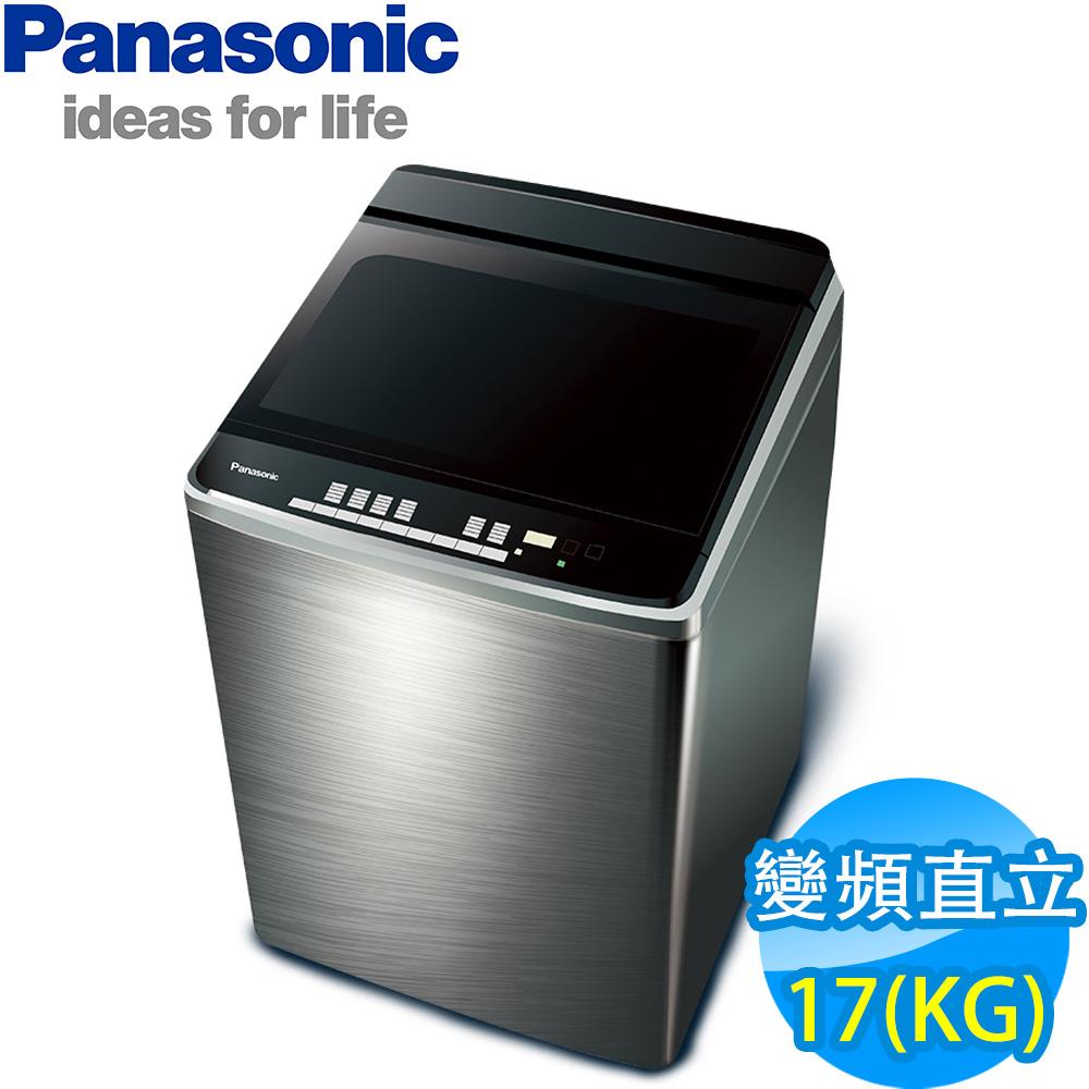 [無卡分期-12期]國際牌 17公斤 直立式 變頻洗衣機 NA-V170GBS-S 不銹鋼