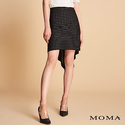 MOMA 不規則條紋兩穿針織裙