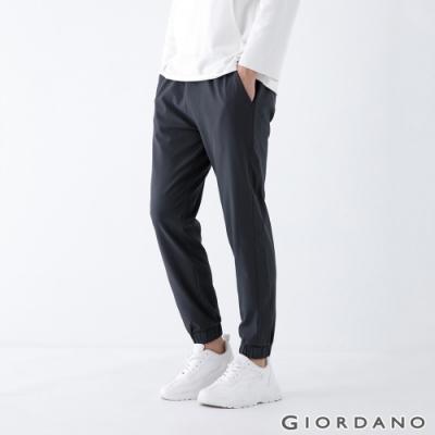 GIORDANO 男裝3M保暖內刷毛束口褲 - 08標誌灰