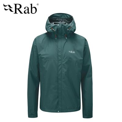 【英國 RAB】Downpour Eco Jacket 輕量防風防水連帽外套 男款 松綠 #QWG82