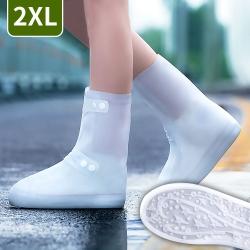 EZlife 排扣式高筒防滑耐磨雨鞋套(2XL號)