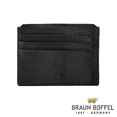 BRAUN BUFFEL - 奧菲莉亞V系列10卡單層卡夾 - 深邃黑