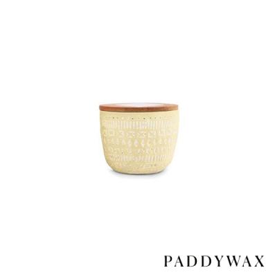 PADDYWAX 美國香氛 Sonora系列 梅耶檸檬 原木蓋復刻浮雕陶罐 85g