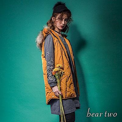 beartwo 花花宇宙不規則拼接口袋洋裝(二色)