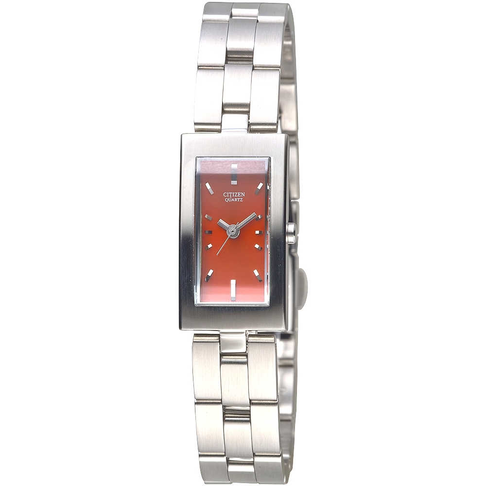 CITIZEN 俐落身手時尚女錶-紅-EH0270-50X-15*28mm