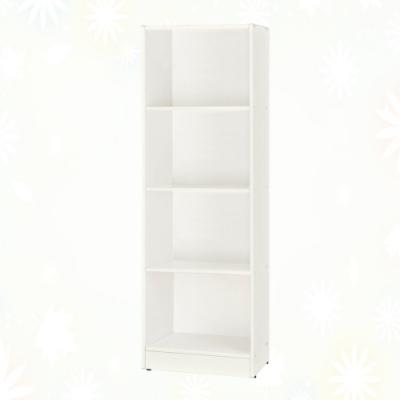 文創集 希莉 環保1.4尺南亞塑鋼開放四格置物櫃/收納櫃-43.4x33.7x147cm免組