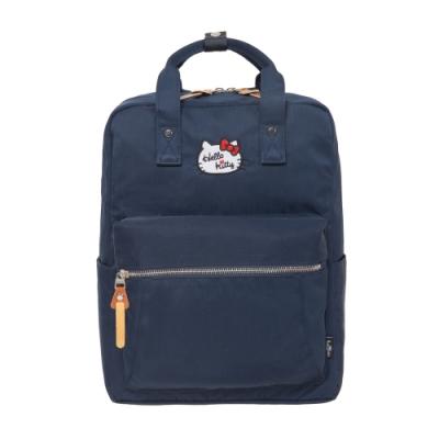 【Hello Kitty】凱蒂學院-方型後背包-深藍 FPKT0F001NY