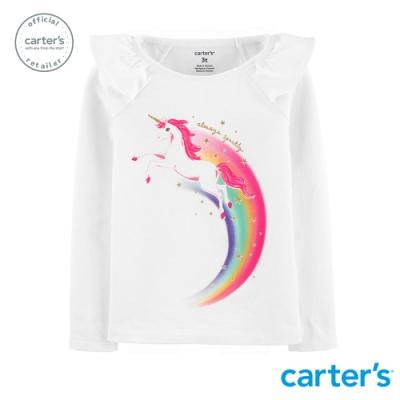Carter s台灣總代理 彩虹天馬長袖上衣