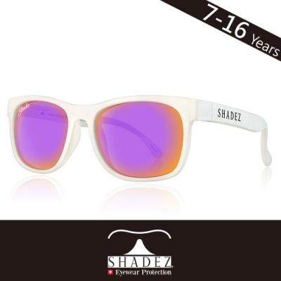 瑞士SHADEZ兒童頂級偏光太陽眼鏡SHZ-413年齡(7-16)-白框新潮紫