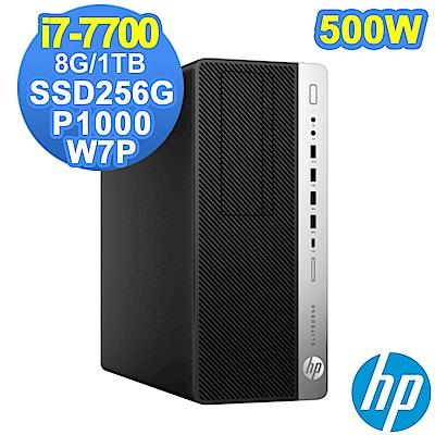 HP 800G3 MT i7-7700/8G/1TB+SSD256G/P1000/W7P
