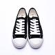 艾樂跑 Arriba 女鞋 AB-8068 綁帶餅乾鞋 帆布鞋 -黑/白