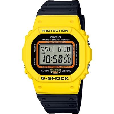 G-SHOCK 復刻街頭文化精神數位錶-黑X黃(DW-5600TB-1D)/42mm