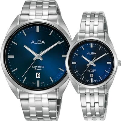 ALBA 雅柏 簡約設計情侶手錶 對錶  VJ42-X303B+VJ22-X323B(AS9L11X1+AH7V49X1)