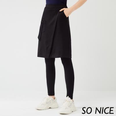 SO NICE運動風造型羅馬布裙褲