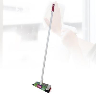 多魔潔-2入歐式加長省力耐磨廚房浴廁兩用地板刷可刷又可刮