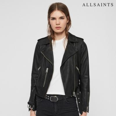 ALLSAINTS BALFERN 經典簡約短版棉羊皮騎士皮衣外套-黑 [ 週年慶時時樂限定價$17,730 ]