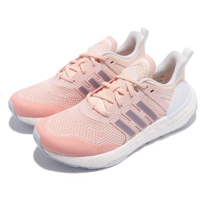 adidas 慢跑鞋 Equipment 運動 女鞋 愛迪達 輕量 透氣 舒適 避震 路跑 粉 白 H02753