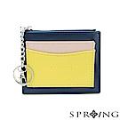 SPRING-春日卡片零錢包-深藍x黃