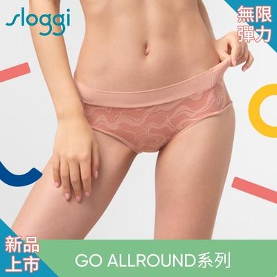 sloggi GO Allround Lace全方位無限彈力蕾絲系列中腰三角褲 甜橙蜜桃 87-2227 20