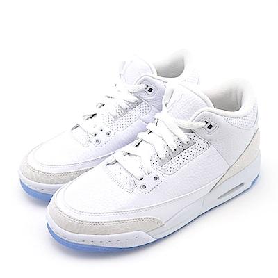 NIKE AIR JORDAN 3 大童籃球鞋 398614111 白