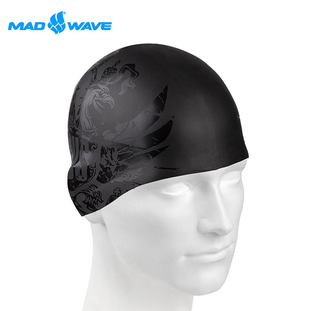 俄羅斯 邁俄威 成人矽膠泳帽 MADWAVE BLACKRUSSIA