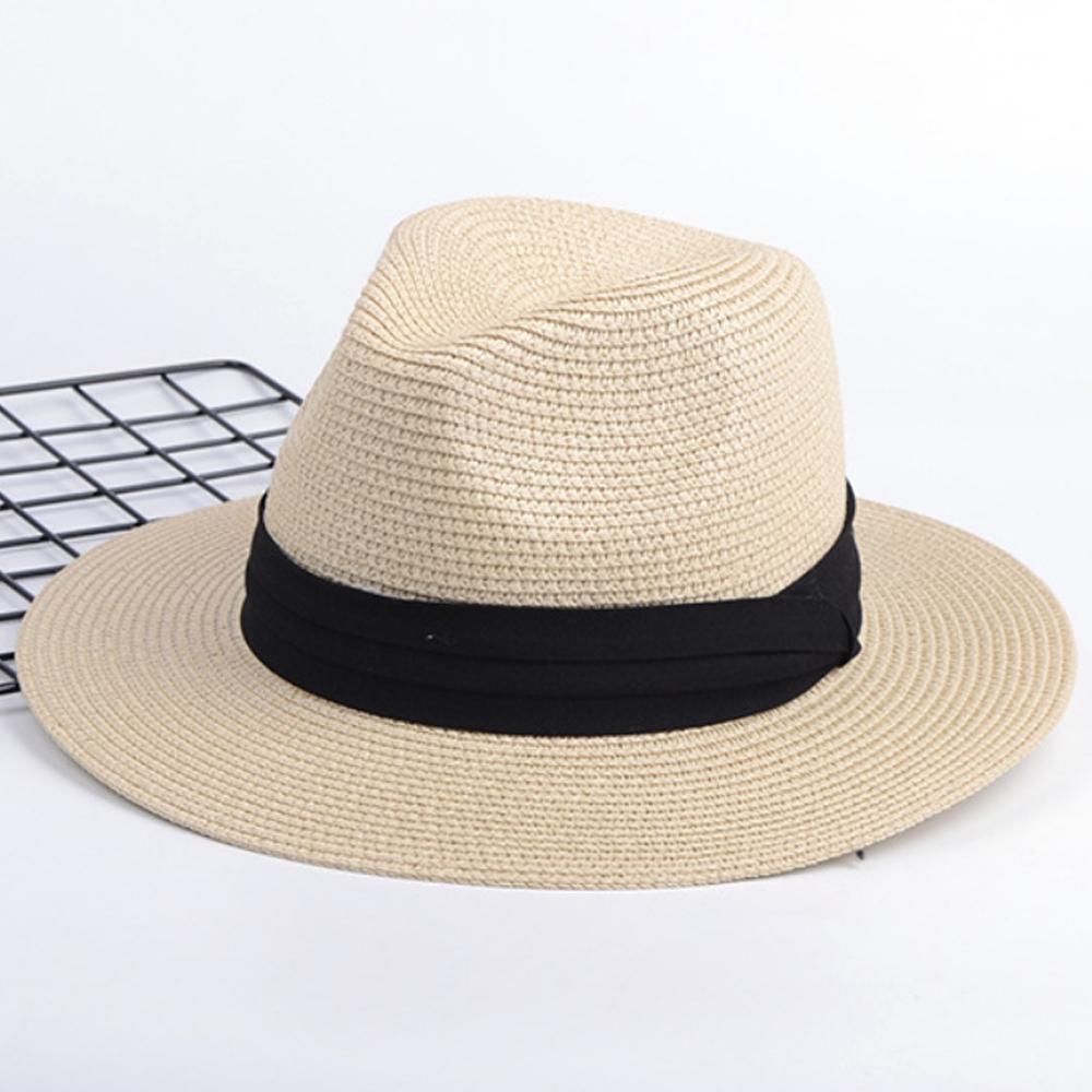 可折疊大平檐草帽(巴拿馬帽平沿帽小辣椒爵士禮帽)