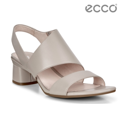 ECCO ELEVATE 45 BLOCK SANDAL 時尚美背高跟涼鞋 女鞋-灰粉色