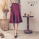 東京著衣-yoco 氣質女伶蕾絲下襬包臀魚尾裙-S.M.L(共二色)