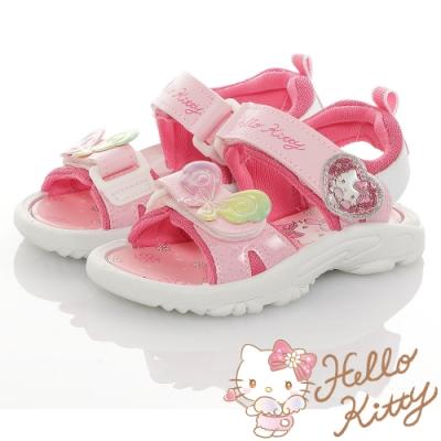 Hello Kitty童鞋 彩虹蝴蝶系列-可愛輕量減壓休閒涼鞋-粉