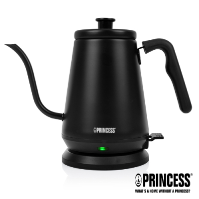 PRINCESS荷蘭公主0.8L手沖細口快煮壺(消光黑)236036