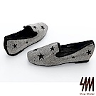SM-方頭星星平底單鞋(2色)