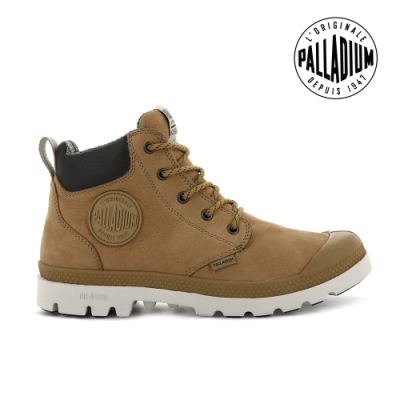 PALLADIUM PAMPA CUFF LITE+ WP+ LTH輕量皮革防水靴-中性-土黃