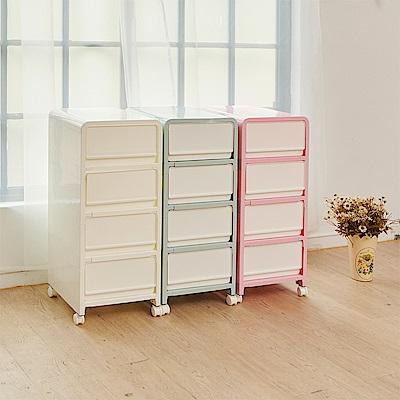 H&R安室家 彩樣四層抽屜整理箱 收納箱BNF47