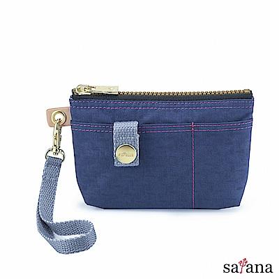 satana - Soldier 實用拉鍊化妝包/零錢包 - 礦青藍