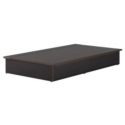 愛比家具 防水塑鋼3.5尺單人加大床底(胡桃色)