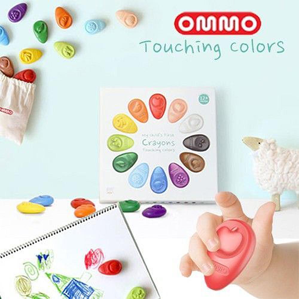 韓國OMMO 無毒蠟筆12色 禮盒裝 @ Y!購物