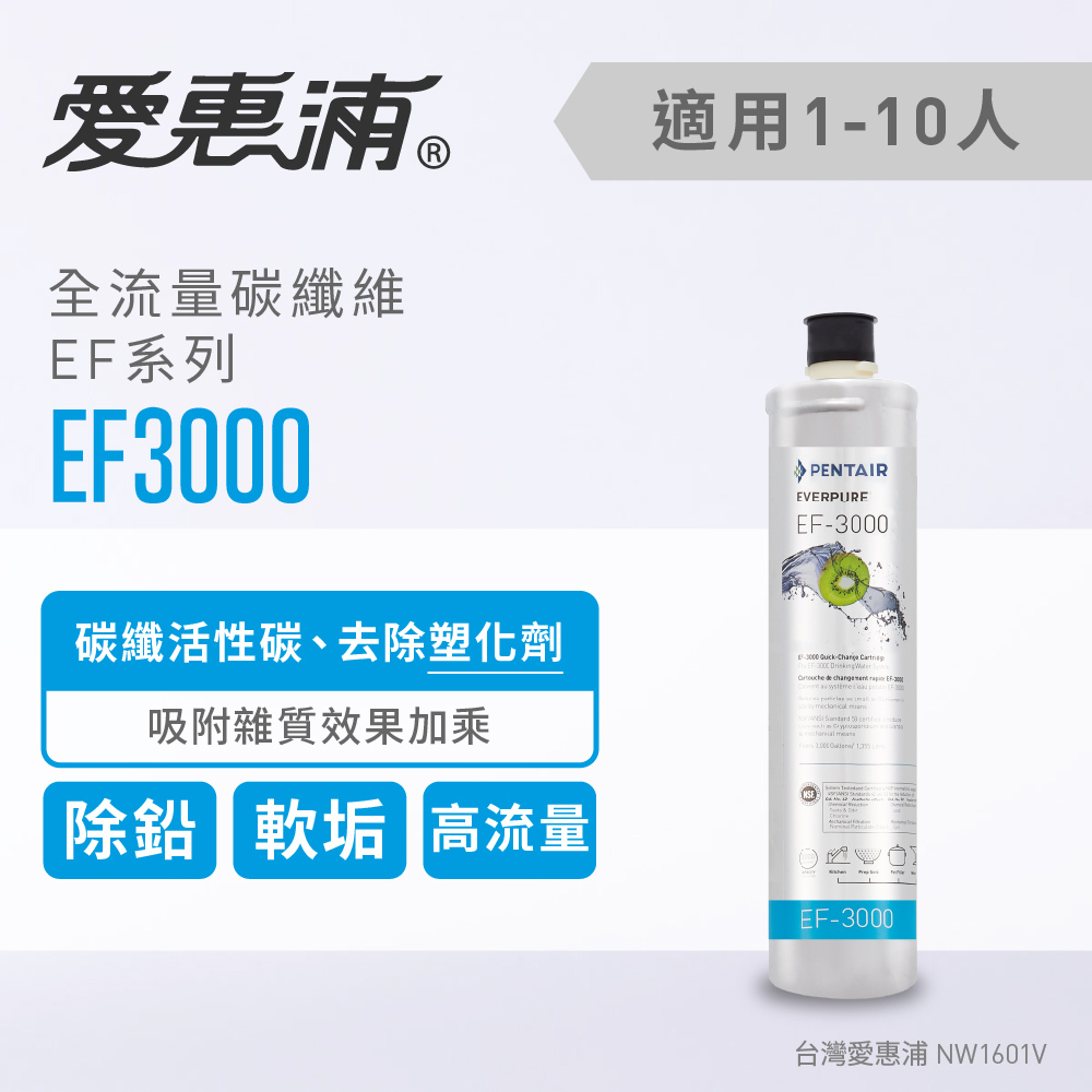 愛惠浦 全流量強效碳纖維系列濾芯 EVERPURE EF3000