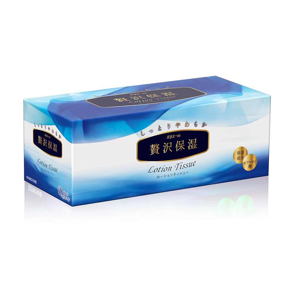 日本大王elleair 奢侈保濕柔霜面紙(200抽/盒)