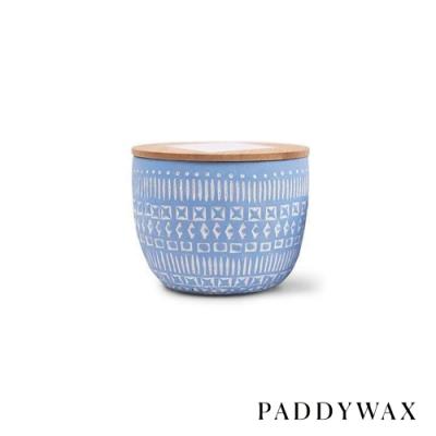 PADDYWAX 美國香氛 Sonora系列 紫藤柳 原木蓋復刻浮雕陶罐 85g